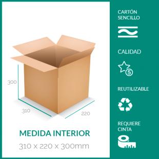 cajas de cartón para mudanzas 310x220x300 mm