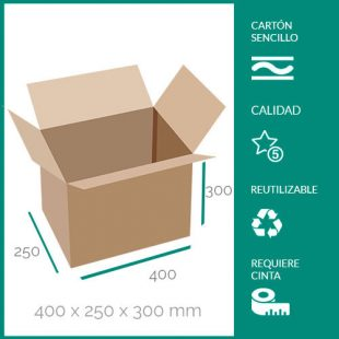 cajas de cartón para mudanzas 400x250x300 mm