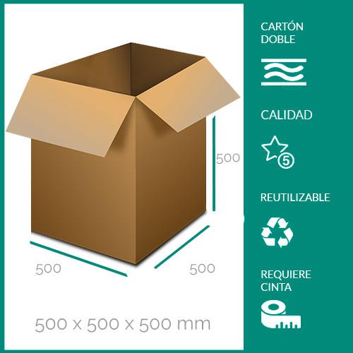cajas de cartón para mudanzas 500x500x500 mm