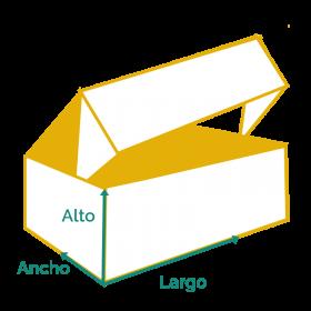 dibujo de caja de cartón automontable