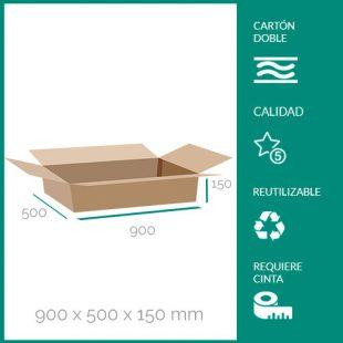 cajas de cartón para mudanzas 900x500x150 mm