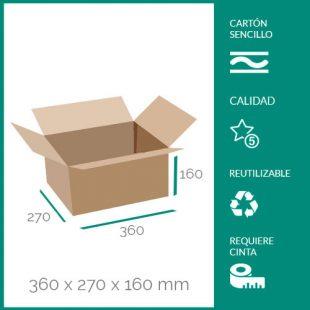 cajas de cartón para mudanzas 360x270x160 mm