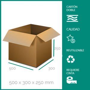 cajas de cartón para mudanzas 500x300x250 mm