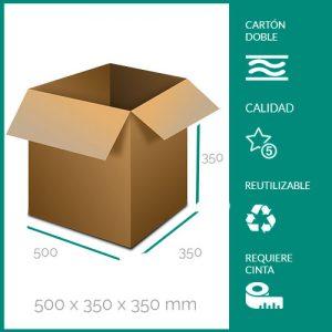 cajas de cartón para mudanzas 500x350x350 mm