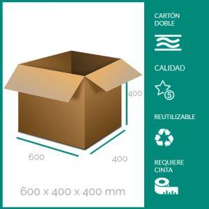 cajas de cartón para mudanzas 600x400x400 mm