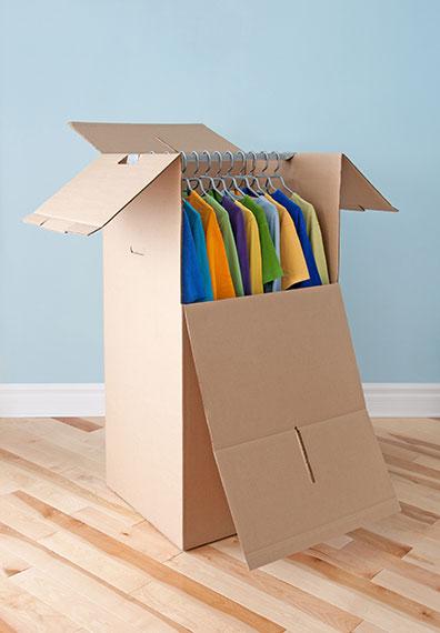 caja-armario de cartón